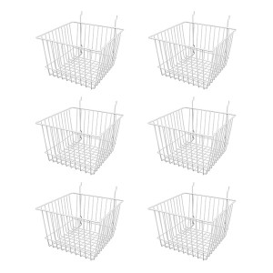 "Grid/Slatwall Basket 12"" x 12"" x 8"" 1"