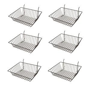 "Grid Slatwall Basket 15"" x 12"" x 5"" 1 2"