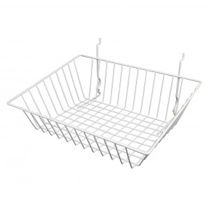 Grid, Slatwall Pegboard Sloping Basket 1