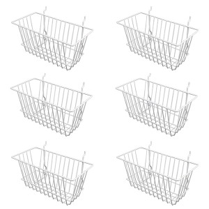 "Grid/Slatwall Basket 12"" x 6"" x 6"" White 1"