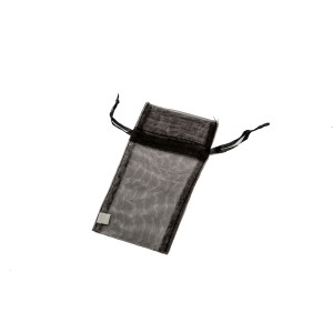Organza Drawstring Pouches Black Mini