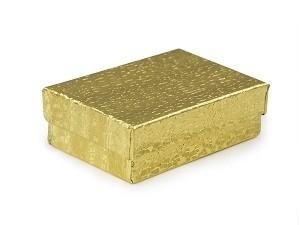 "Cotton Filled Jewelry Box: 3 1/4"" x 2 1/4"" x 1"" BX2832Y"