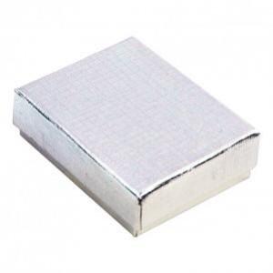 """Box 3.25"""" x 2.25"""" x 1"""" Silver Linen - BX2832B"""