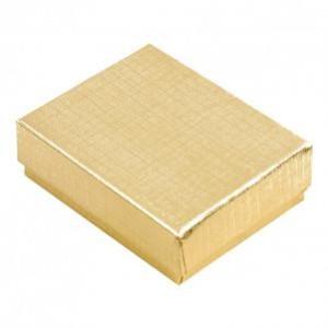 """Box 6 1/8"""" x 5 1/8"""" x 1"""" Gold Linen"""