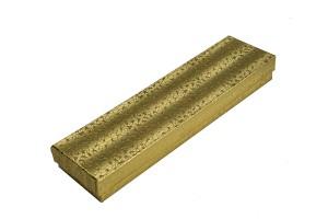 """Box 8"""" x 2"""" x 1"""" Gold Linen: BX2882A"""