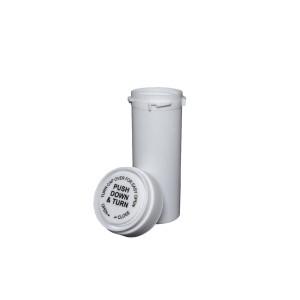 13 Dram Reversible Cap Certified Child Resistant Flower Jars White