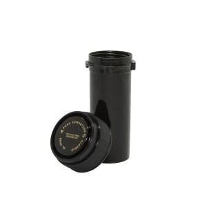 16 Dram Reversible Cap Certified Child Resistant Flower Jars Black