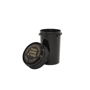 20 Dram Reversible Cap Certified Child Resistant Flower Jars Black