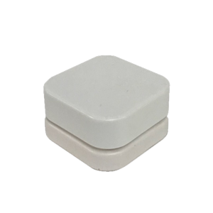 9mL QUBE™ White Opaque Premium Glass Concentrate Jar 1