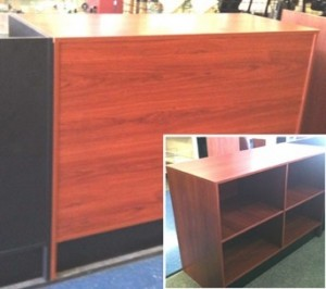 "Checkout Counter 72"" Flat Top Cherry"