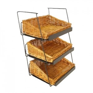 "Willow Basket Counter Display 18"" 3 tier 1"