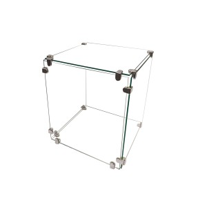 "Glass Cube Display 10"" x 10"""
