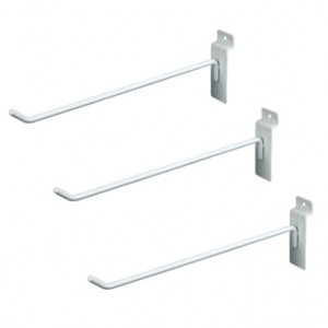 "Slat Hook White10"" 96 1"