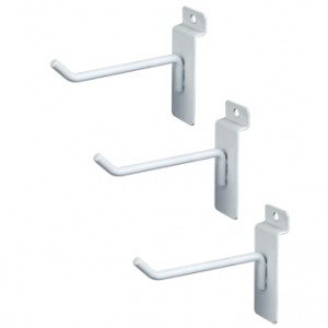 "Slat Hook White 4"" 96  1"