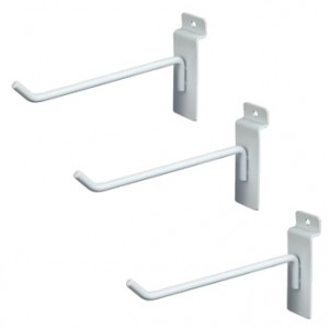"Slat Hook White 6"" 96  1"