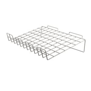 "Slatwall Sloping Shelf 24"" x 14"" White"