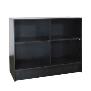 "Checkout Counter 6' L x 38"" H x 20"" D Black 2"