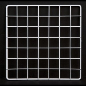 "Grid square 10"" white. 1"