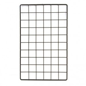 "Grid Rectangular 10"" x 16"" Blac"