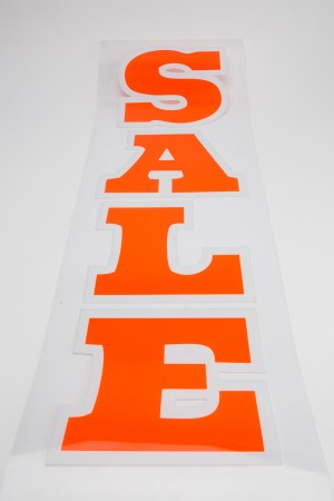 "Sale Sign 36"" x 12"" Transparent"