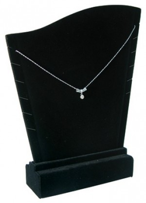 Necklace Display Black Velvet