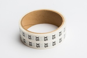 Size Labels Clear X-Small Clear Black Print