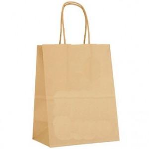 "Shopping Bags 8"" W  x  4 3/4"" D  x  10 1/2"" H Brown Kft"
