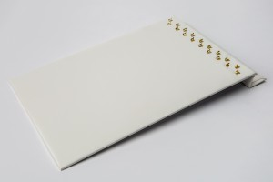 Hook Chain Board White Faux Leather