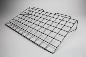 "Slatwall Metal 24"" x 14"" Silver Gray"
