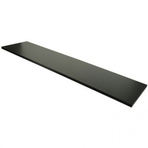 "Wood Shelfs Black Melamine 12"" x 48"""