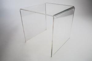 "Clear Acrylic Large Riser 8"" W x 8"" D x 8"" H"