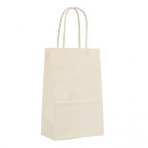 "Shopping Bags 8"" W  x  4 3/4"" D  x  10 1/2"" H White"