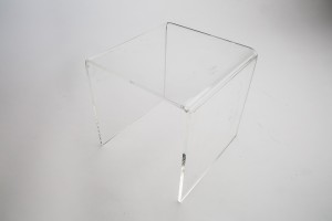 "Clear Acrylic Large Riser 8"" Wx  8"" D x 8"" H"