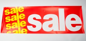 """Sale"" Message Paper Banners"