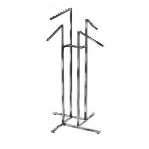 Clothing Rack 4 Way slanted square arms