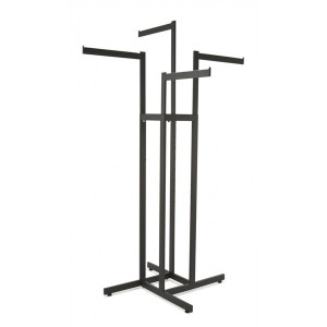 4 Way Rack w/ Straight Arms Black