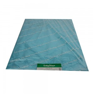 Sky blue tissue paper.  Approximately 480 sheets per ream.  1/RM