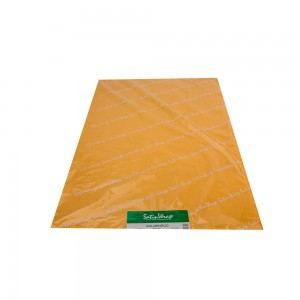 Gold tissue paper.  Approximately 480 sheets per ream.  1/RM