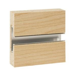 MDF Slatwall Panel 4' x 8' Maple Finish With Aluminum