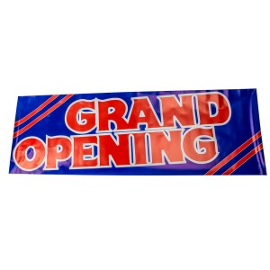 "Grand Opening Paper Sign 19"" H  x  57"" L"