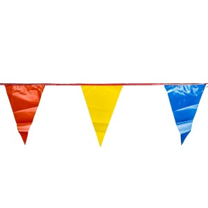"Pennant Multi Color Flags 120' 12"" x 18"""