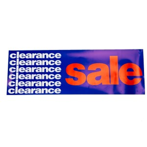 Clearance Sale Paper Pennant Blue, Red And White