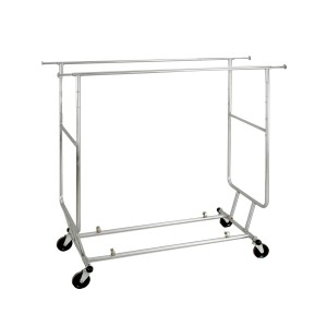 Salesman Rack Collapsible Double Bar Chrome