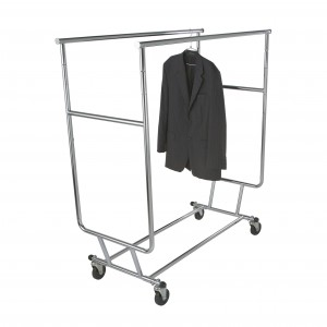 Salesman Rack Collapsible Double Bar Chrome 5