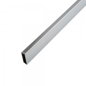 "Rectangular Tubing 16 Gauge 24"" L x 1/2"" x 1 1/2"" Chrome Plated"