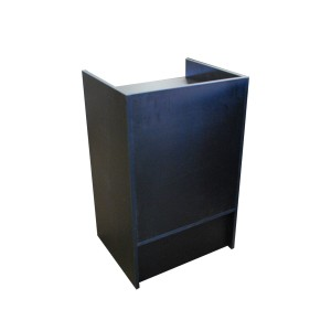 "Register Stand Top 24"" L x 20"" W x 38"" H Black Well"