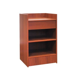 "Register Stand Top 24"" L x 20"" W x 38"" H Cherry Well  2"