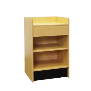 "Register Stand Top 20"" L x 24"" W x 38"" H Maple Wel 2"