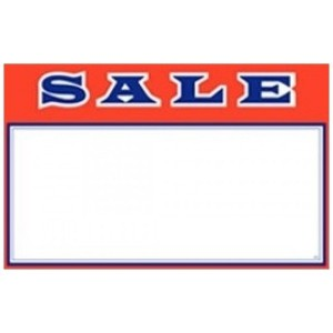Sale Sign Card - Pack of 100 Multiple Sizes Available