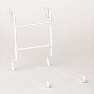 Slatwall Single Cap Rack White